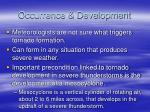 occurrence development