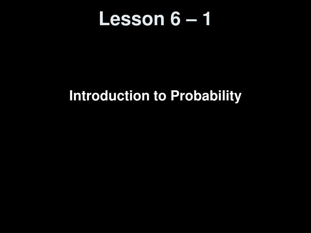 lesson 6 1