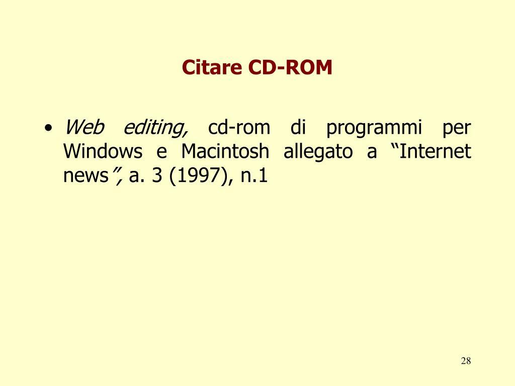 Citare CD-ROM