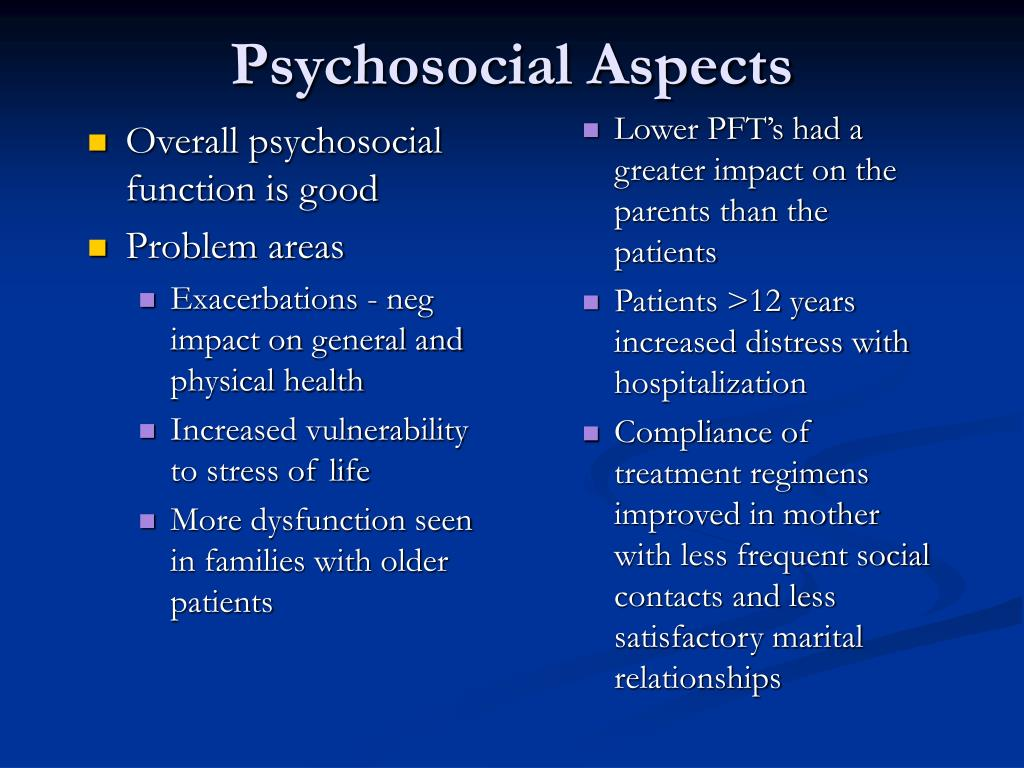 Overall psychosocial function is good