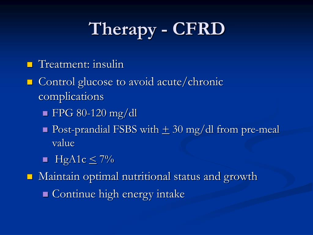 Therapy - CFRD