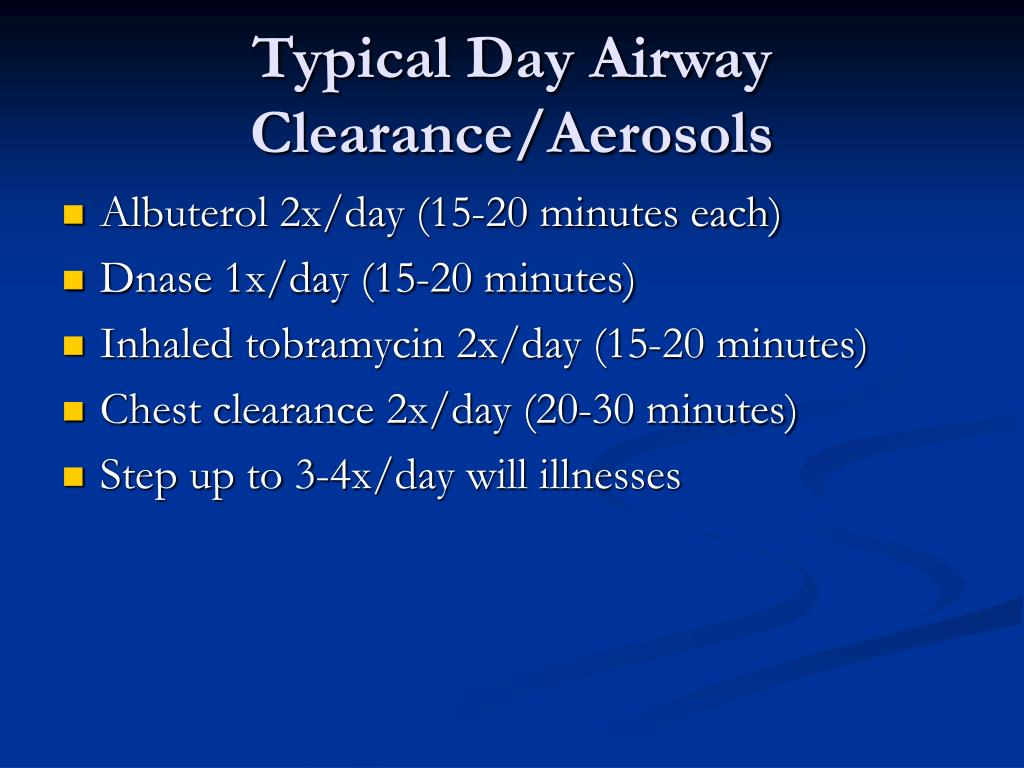 Typical Day Airway Clearance/Aerosols