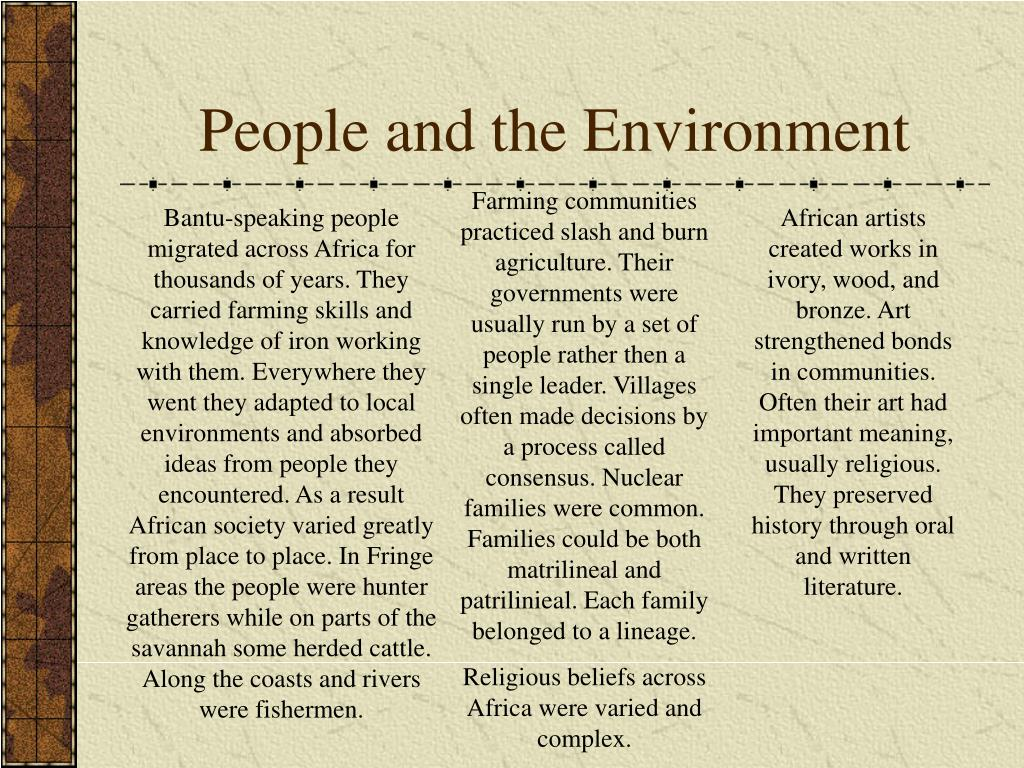 People and the Environment
