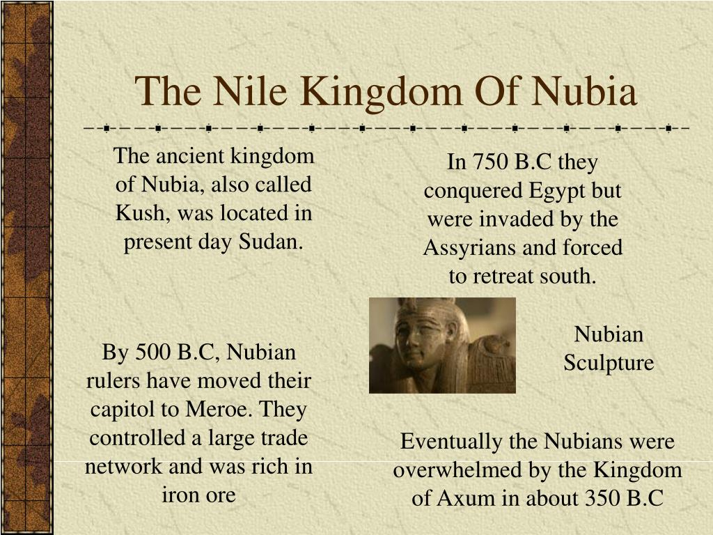 The Nile Kingdom Of Nubia