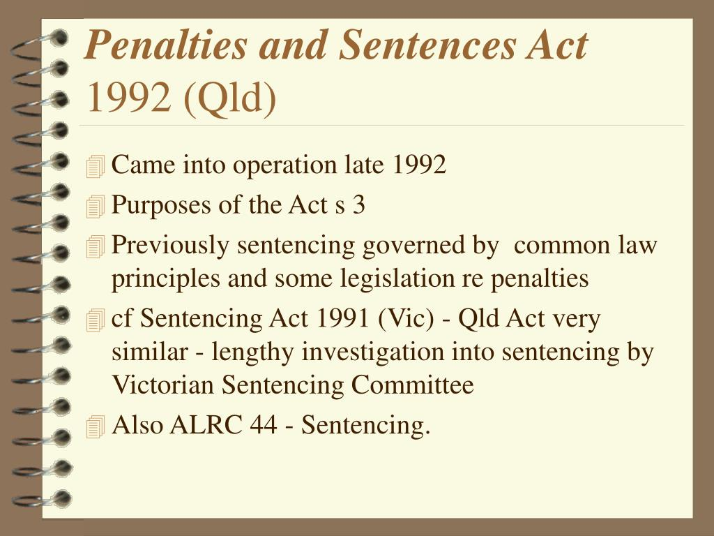Penalties and Sentences Act