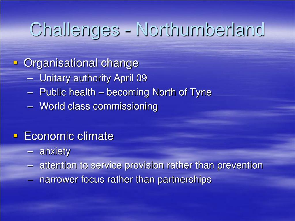Challenges - Northumberland