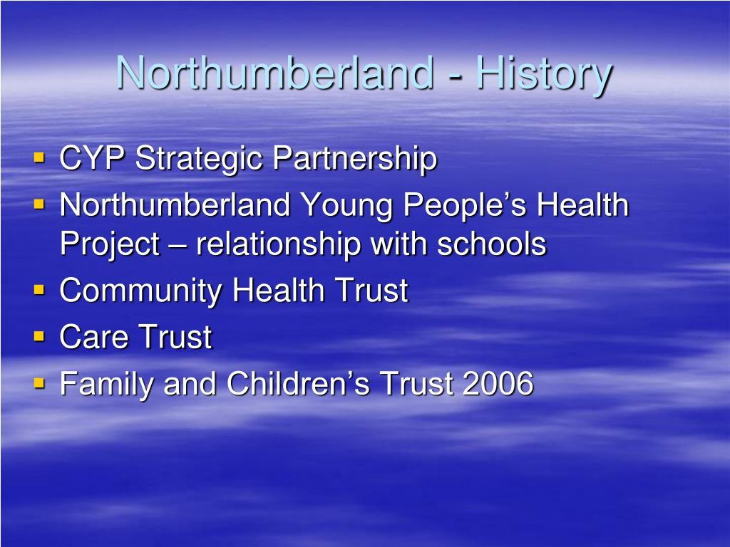 Northumberland - History