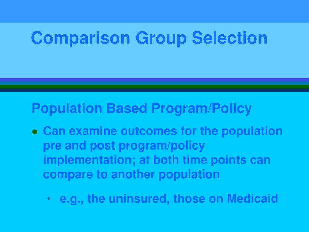Comparison Group Selection