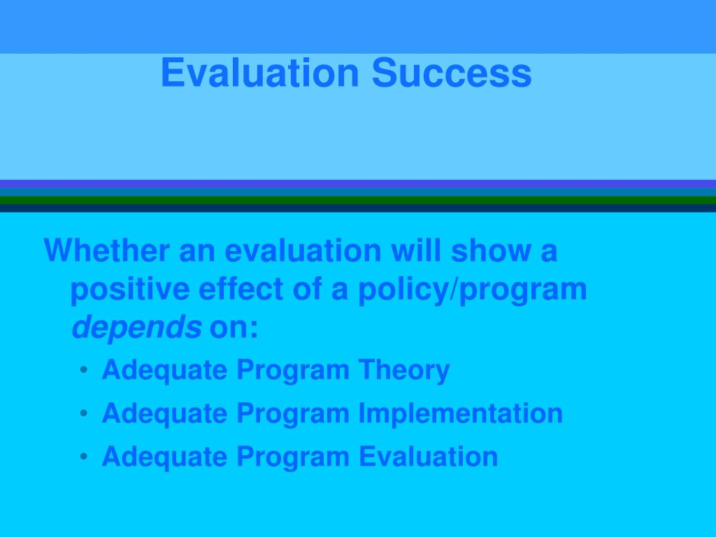 Evaluation Success