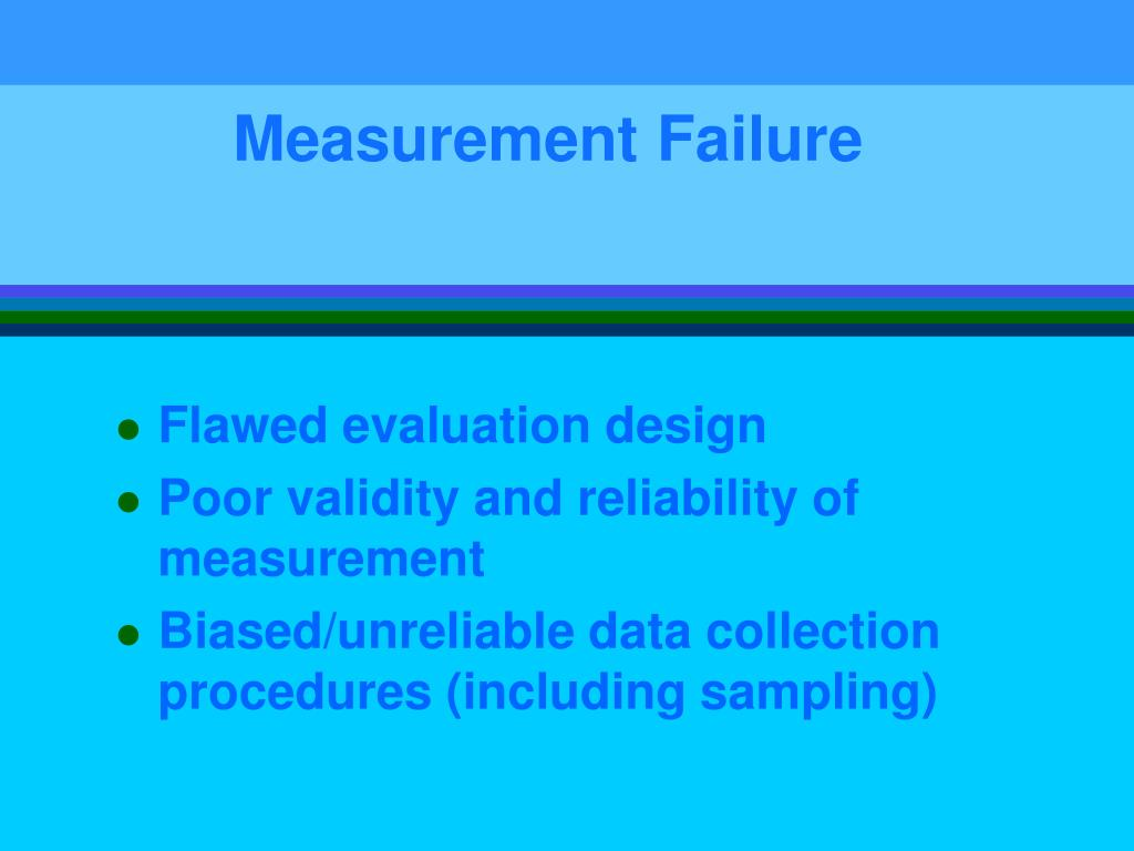 Measurement Failure