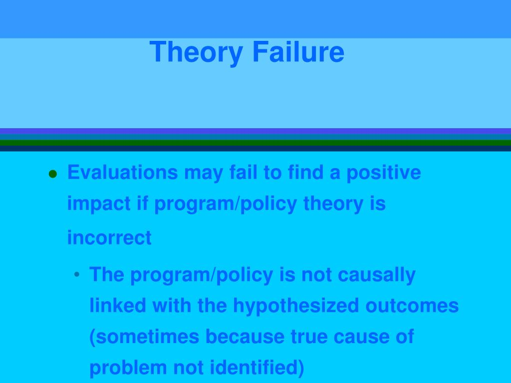 Theory Failure