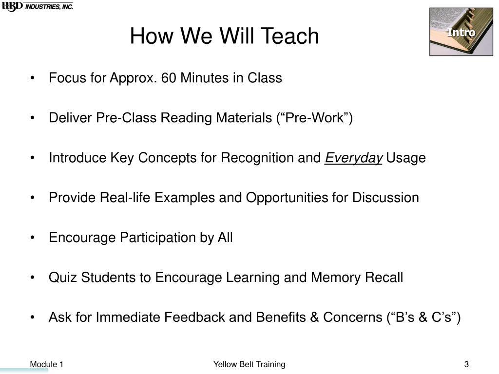 How We Will Teach