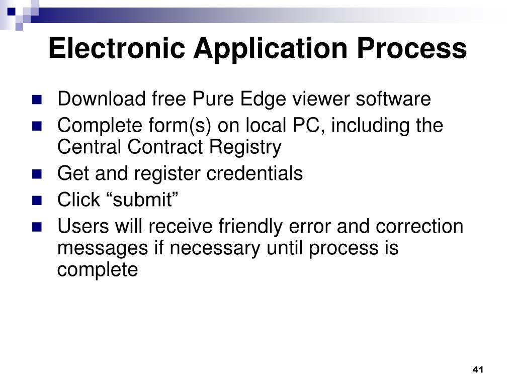 Electronic Application Process
