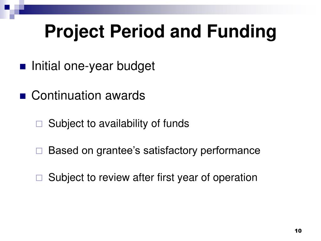 Project Period and Funding
