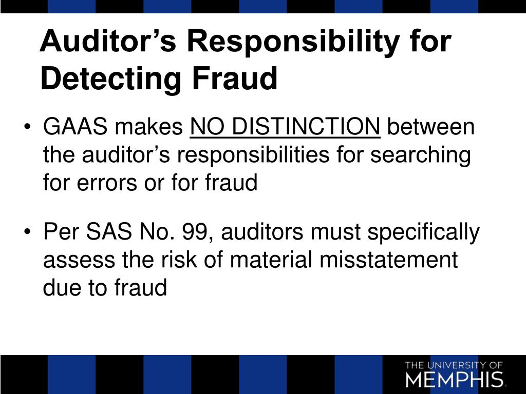 Auditor's Responsibility for