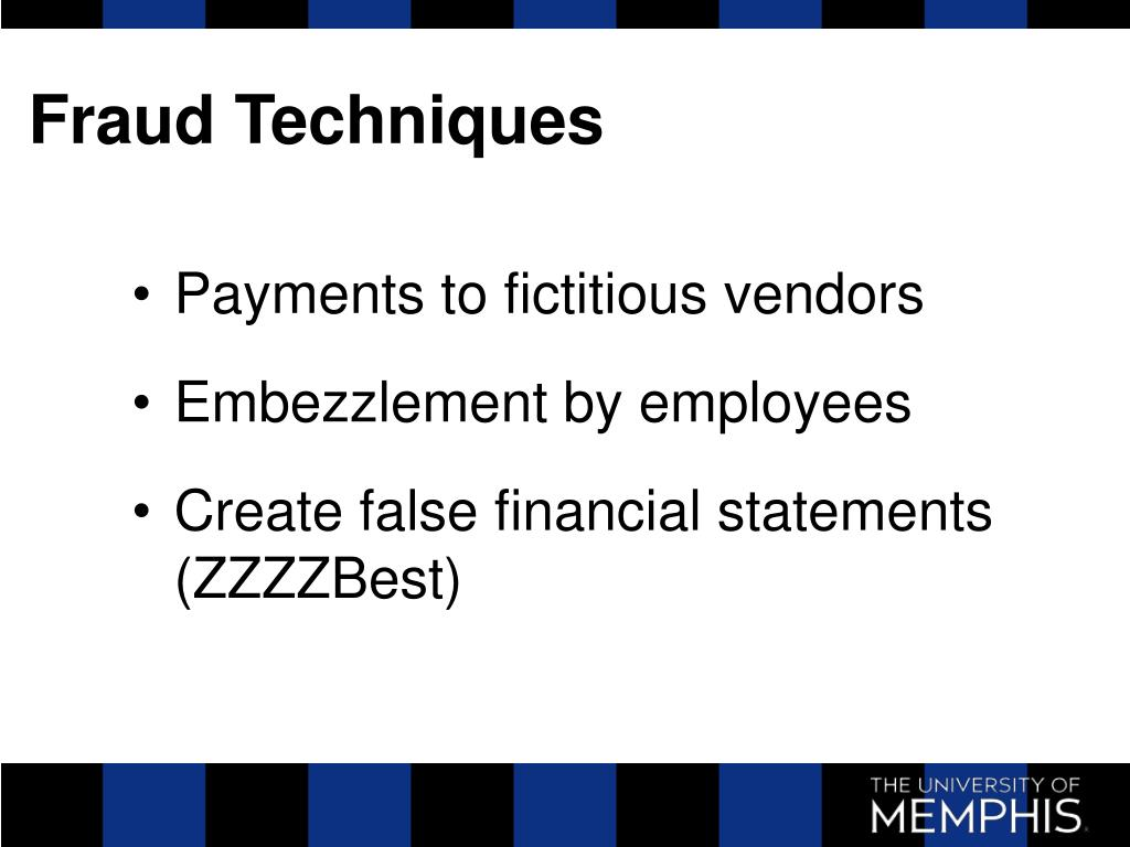 Fraud Techniques
