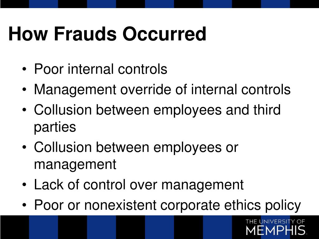 How Frauds Occurred