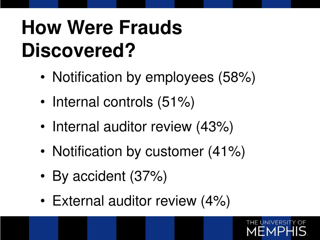 How Were Frauds Discovered?