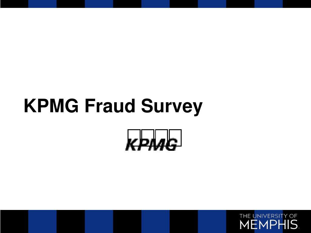 KPMG Fraud Survey