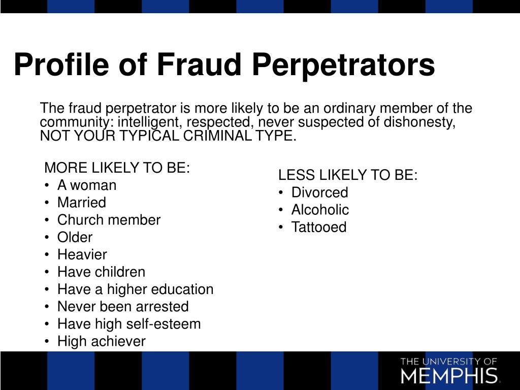 Profile of Fraud Perpetrators