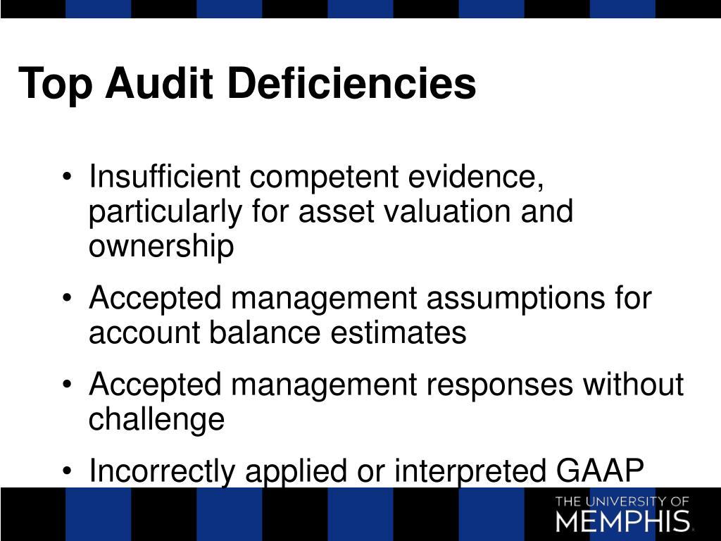 Top Audit Deficiencies