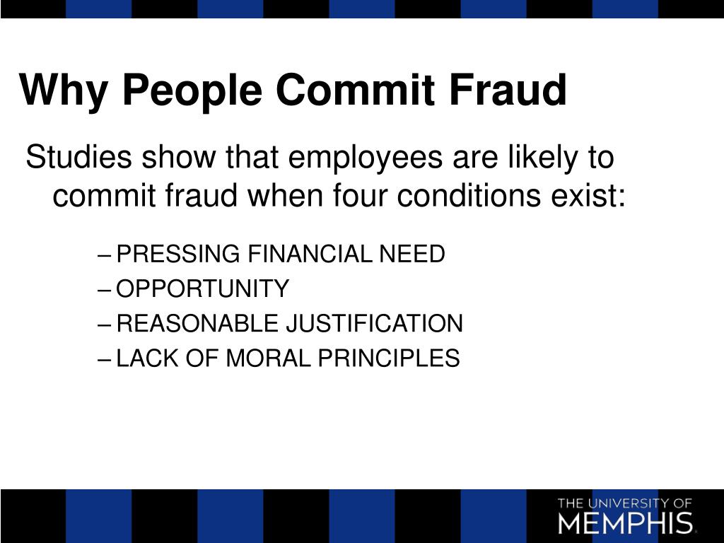 Why People Commit Fraud