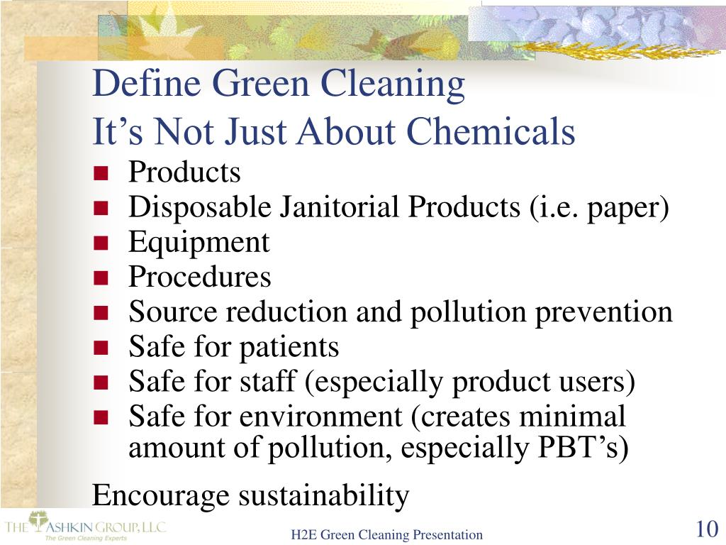 Define Green Cleaning