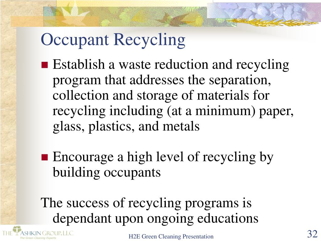 Occupant Recycling