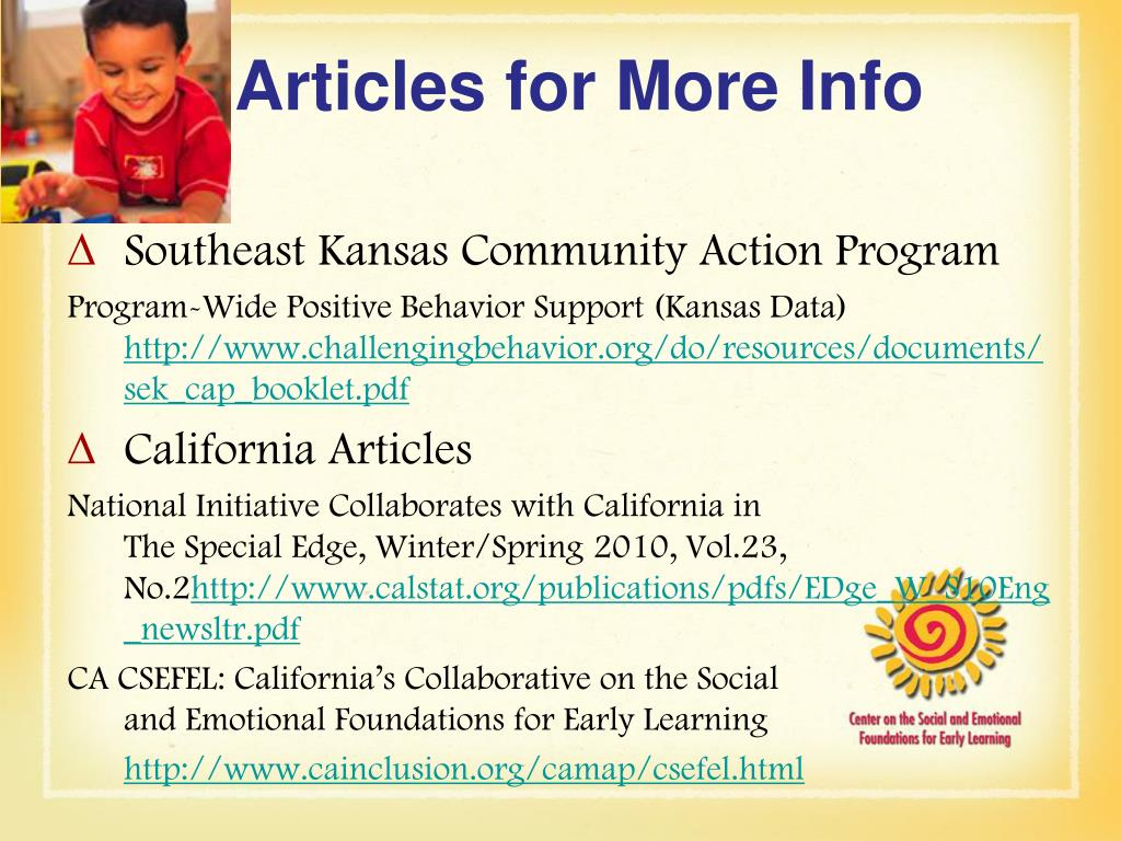 Articles for More Info