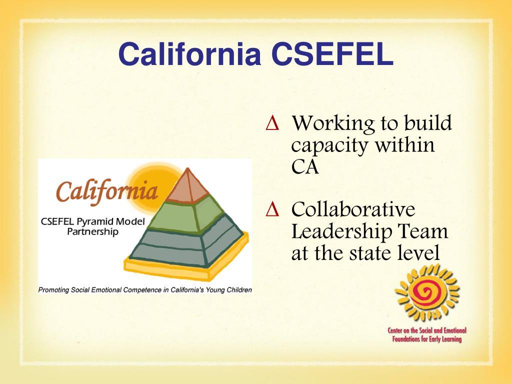 California CSEFEL