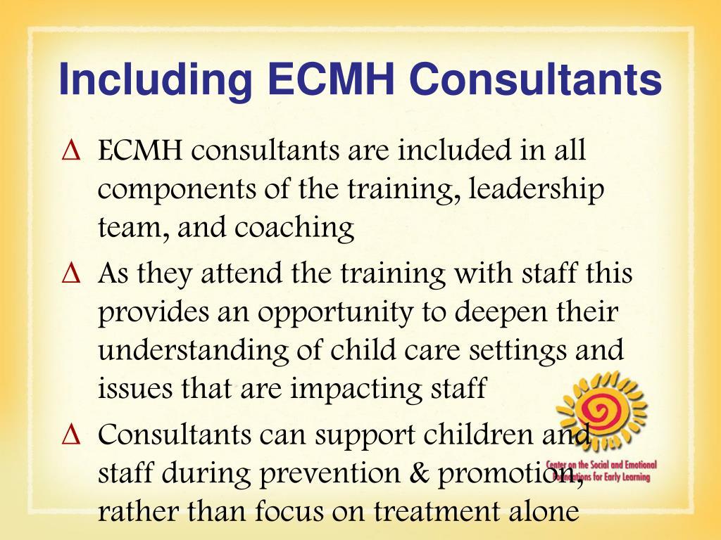 Including ECMH Consultants