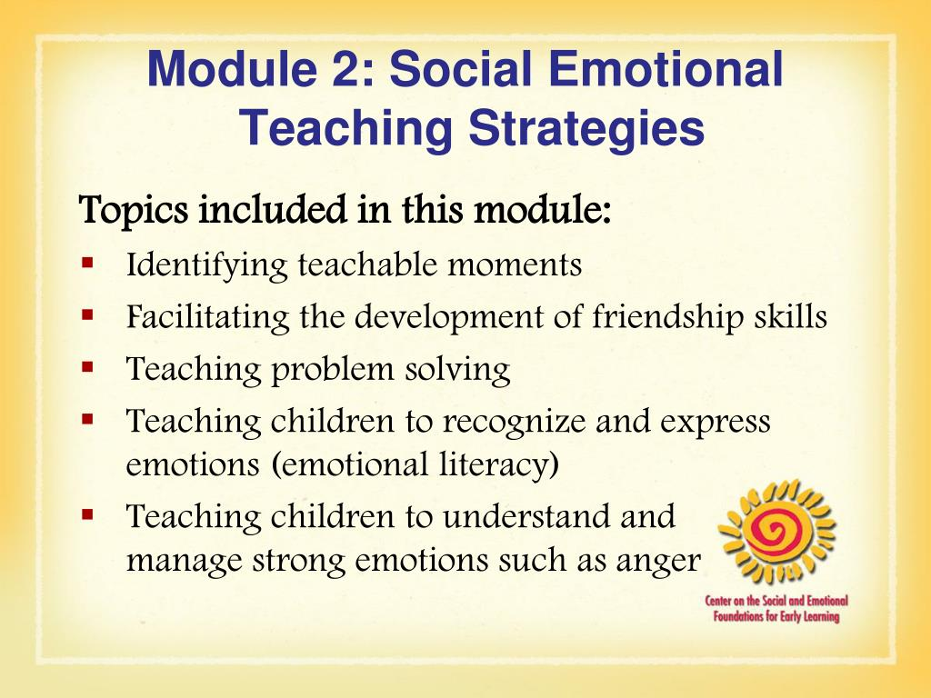 Module 2: Social Emotional