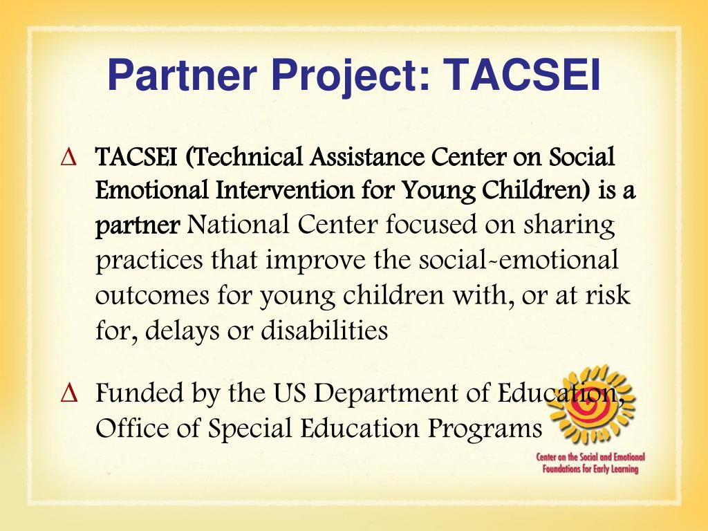 Partner Project: TACSEI