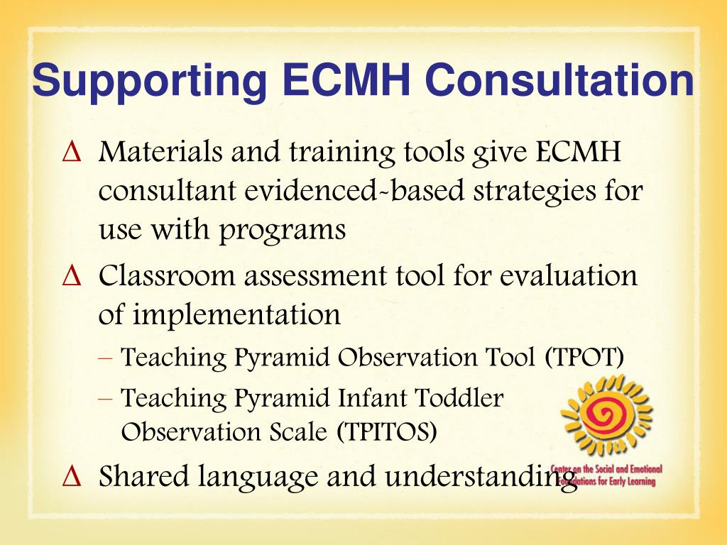 Supporting ECMH Consultation