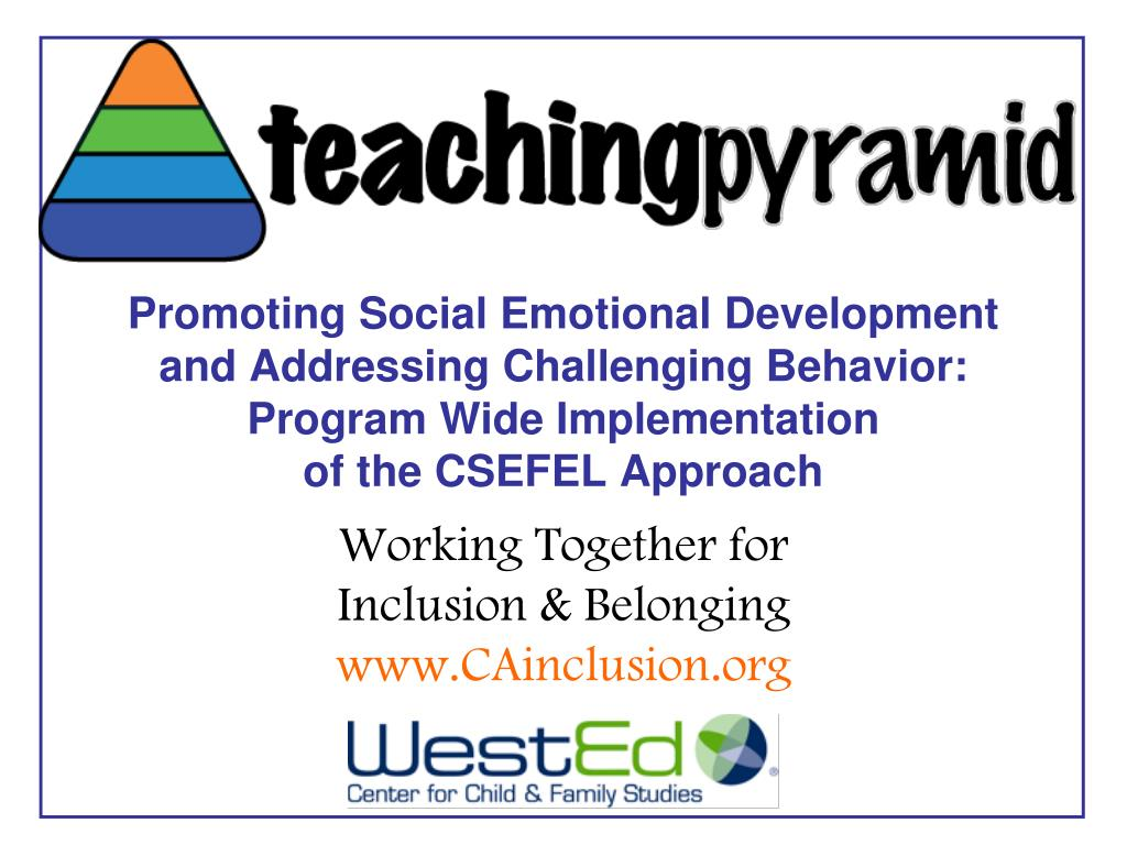 Promoting Social Emotional Development and Addressing Challenging Behavior: