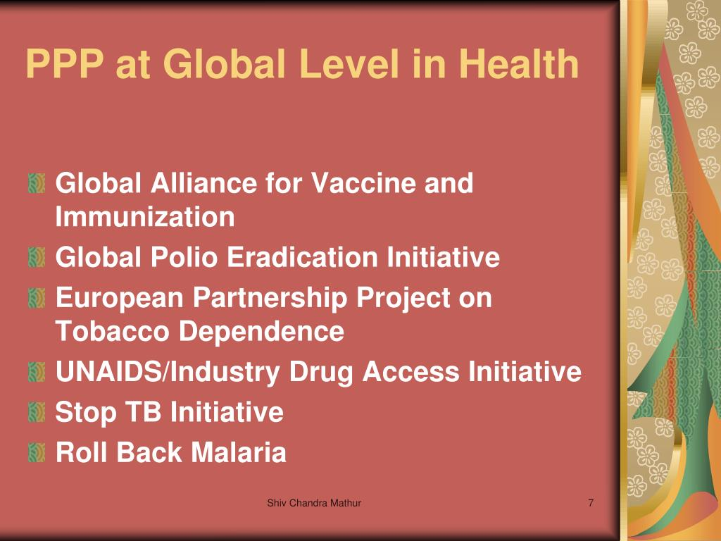 PPP at Global Level in Health