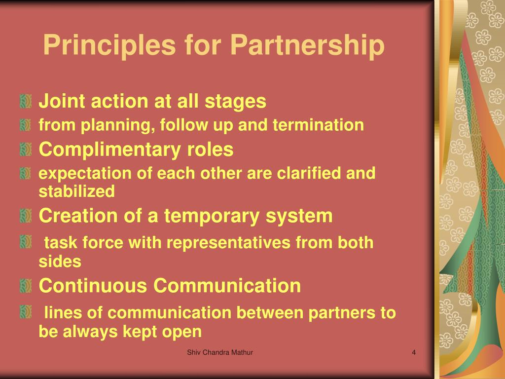Principles for Partnership