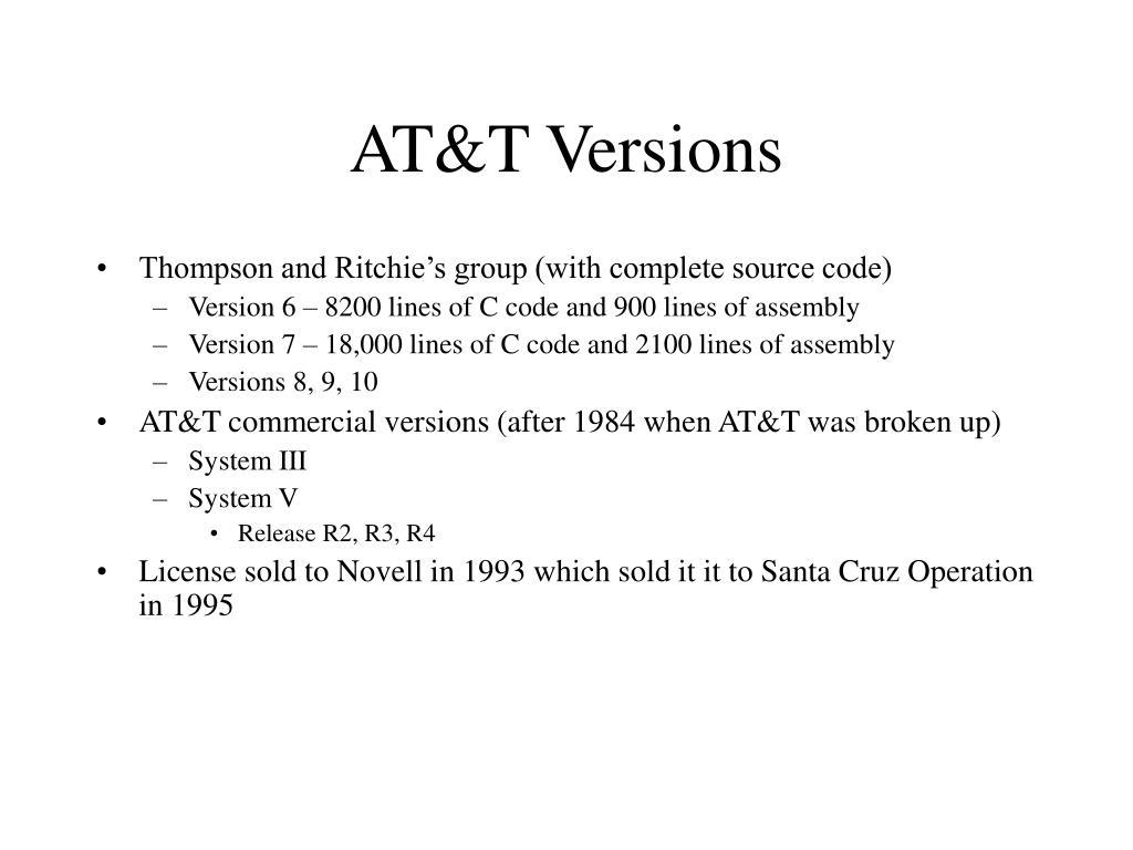AT&T Versions
