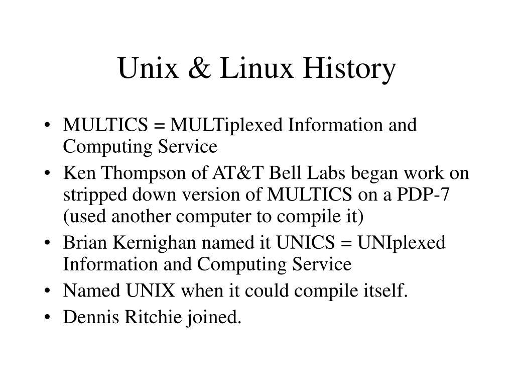 Unix & Linux History