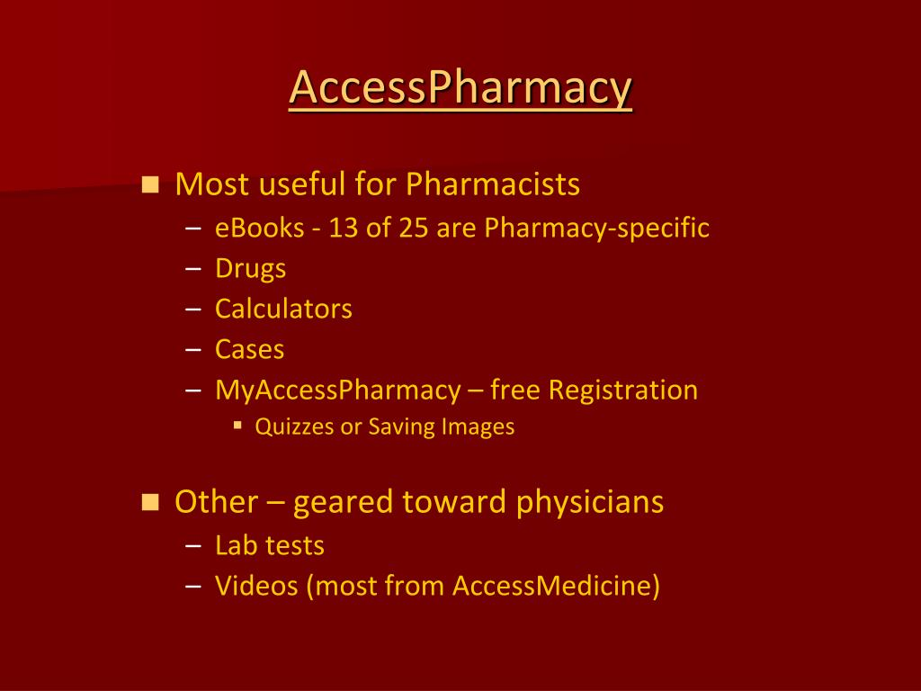 Most useful for Pharmacists