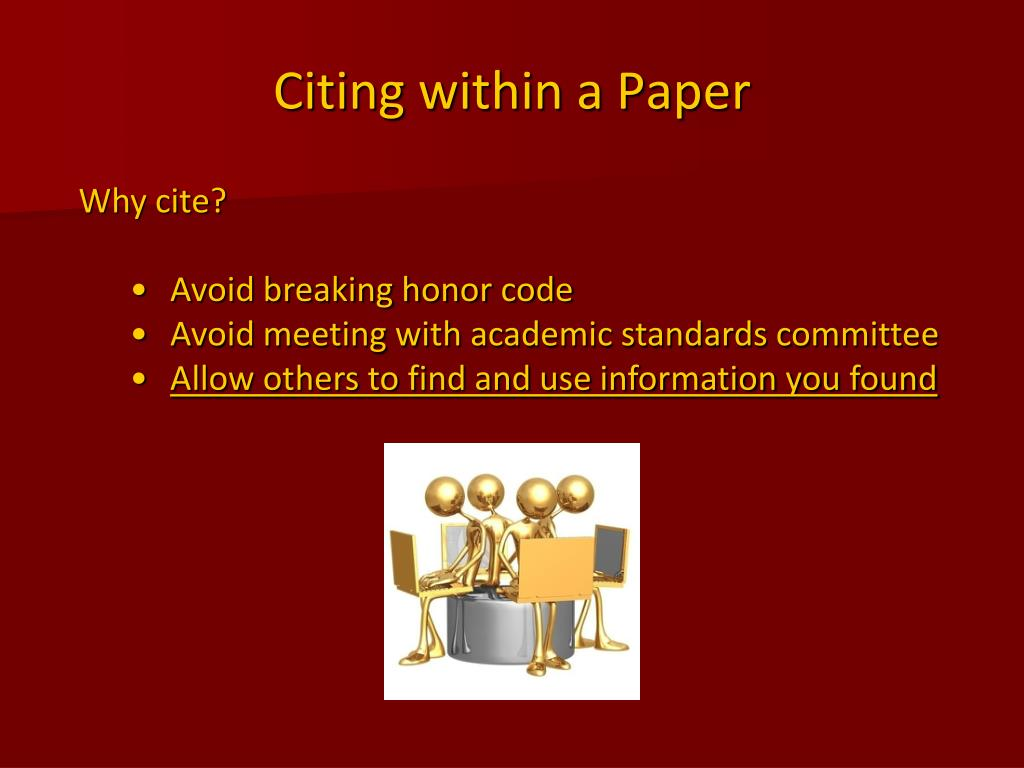Citing within a Paper