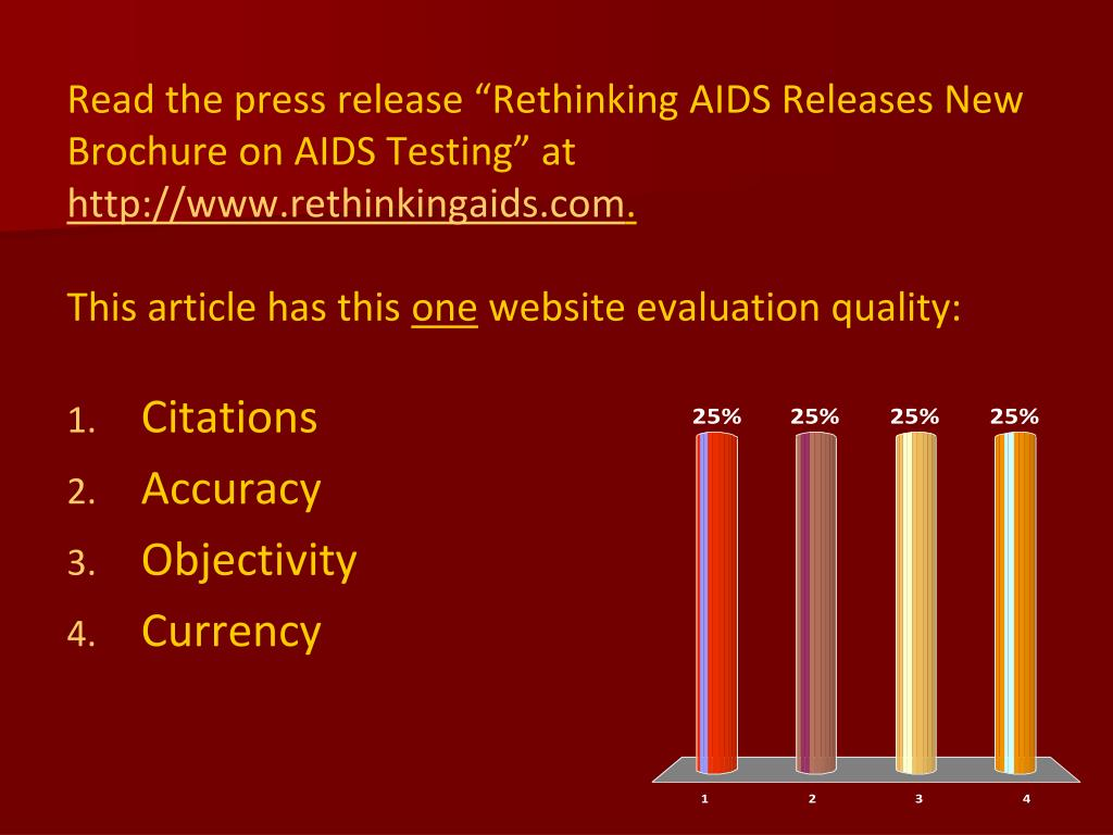 """Read the press release """"Rethinking AIDS Releases New Brochure on AIDS Testing"""" at"""