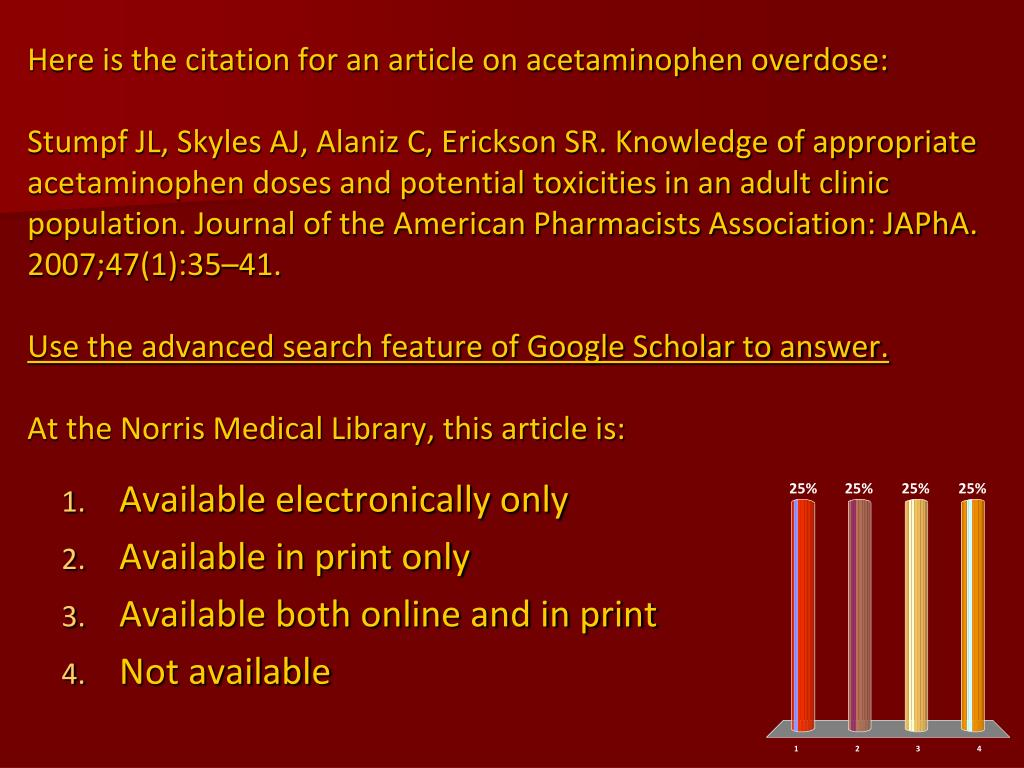 Here is the citation for an article on acetaminophen overdose: