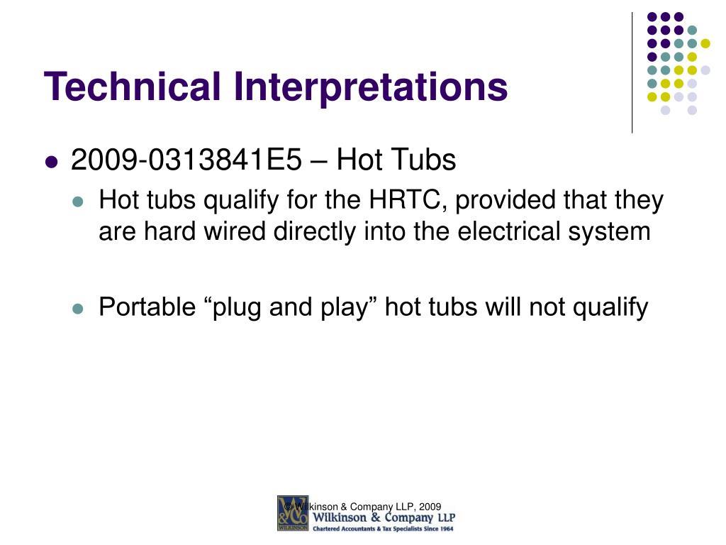 Technical Interpretations