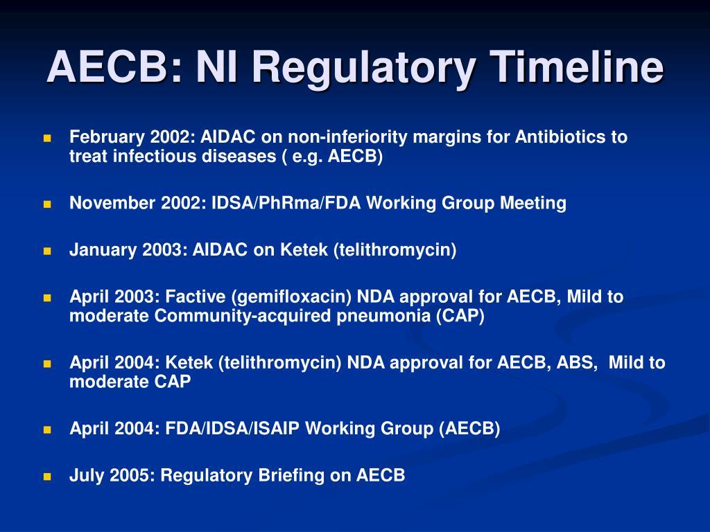 AECB: NI Regulatory Timeline