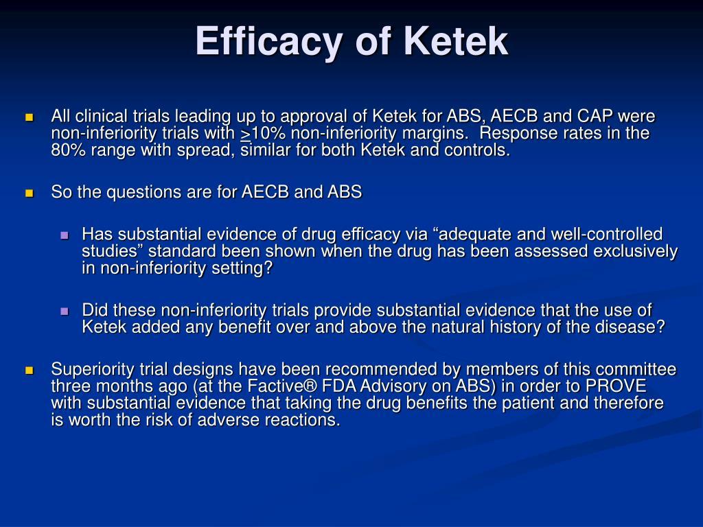 Efficacy of Ketek