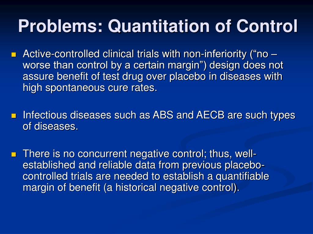 Problems: Quantitation of Control