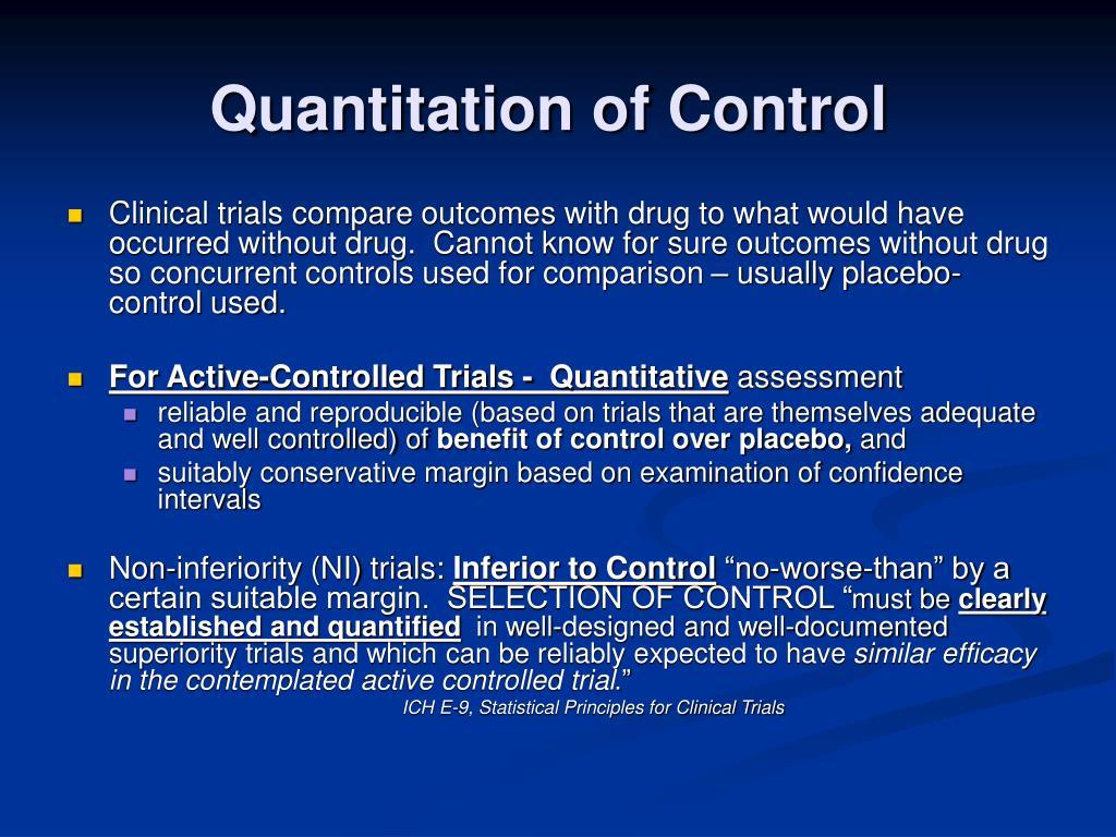 Quantitation of Control