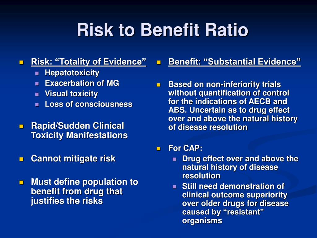 """Risk: """"Totality of Evidence"""""""