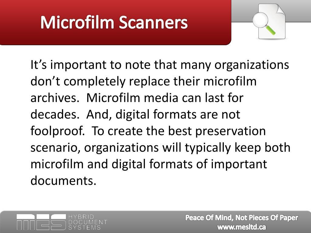 Microfilm Scanners